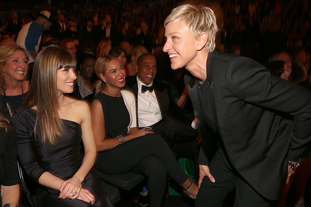 Jessica Biel and Ellen DeGeneres