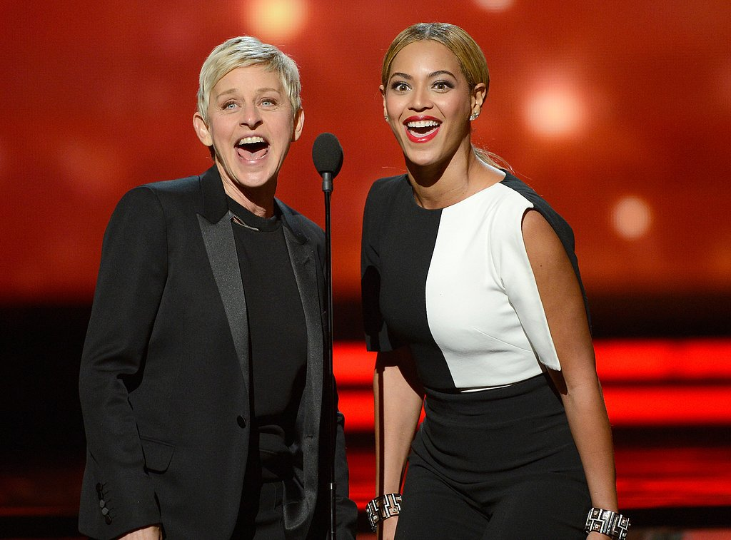 Ellen DeGeneres and Beyoncé