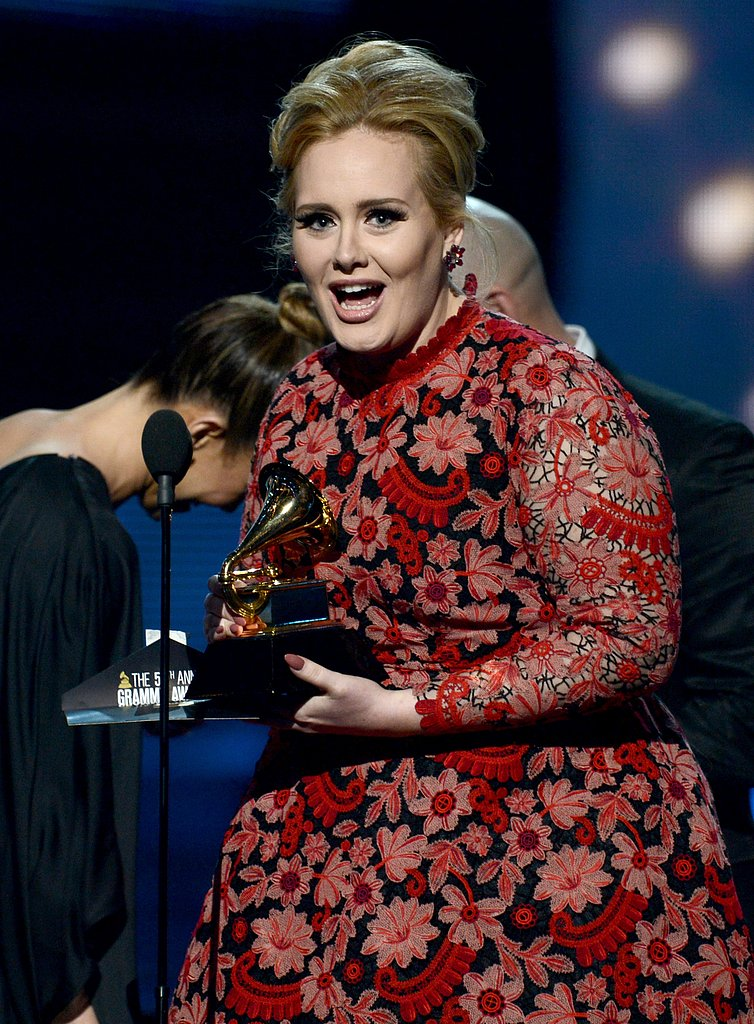 Adele accepted her Grammy.