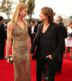 Nicole Kidman and Keith Urban gave each other a loving glance on the Grammys red carpet Sunday night.