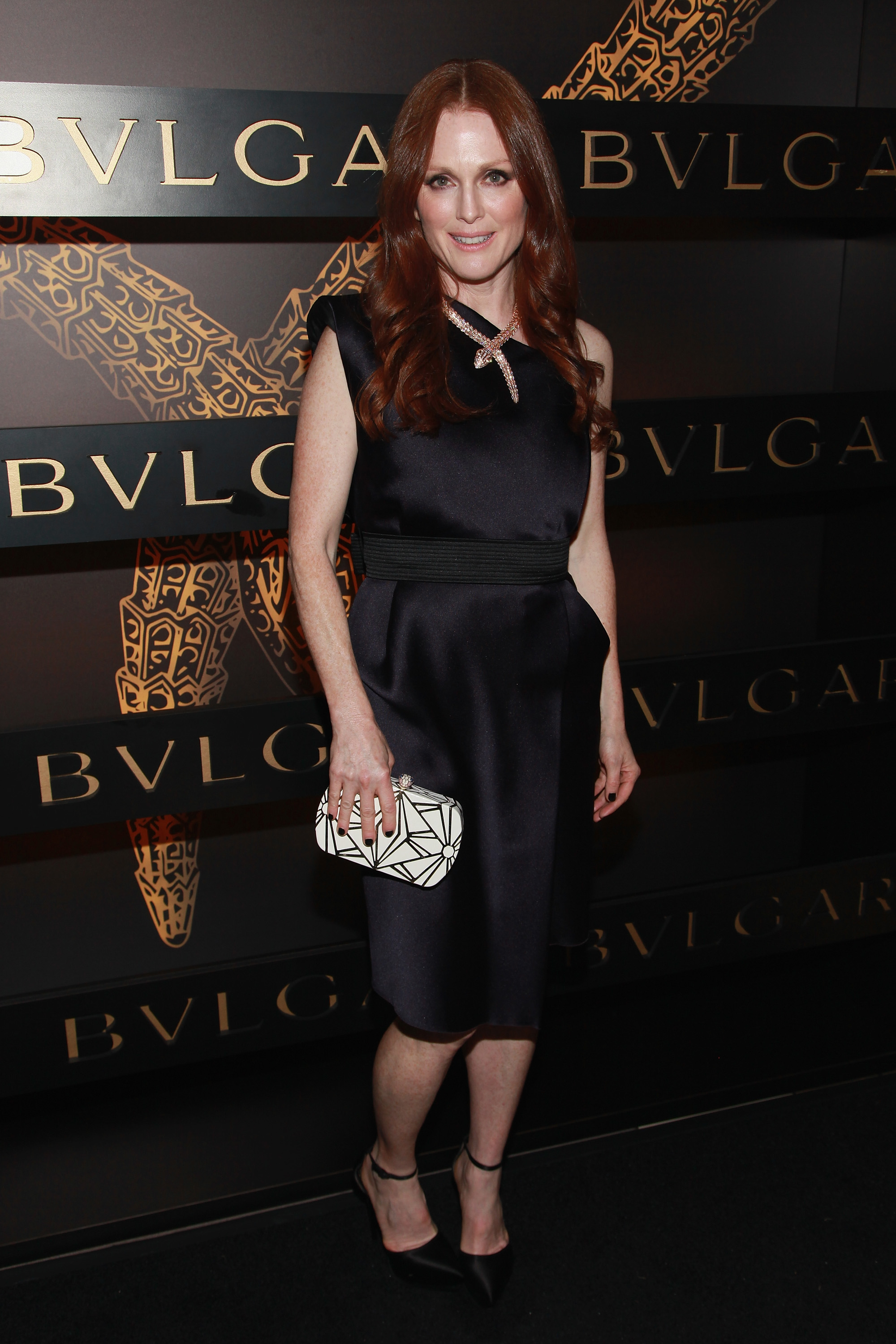 Julianne Moore attended Bulgari's event in NYC on Saturday.