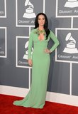 Katy Perry wore green to the Grammy Awards