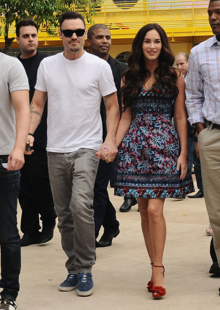 Megan Fox and Brian Austin Green Show PDA in Brazil