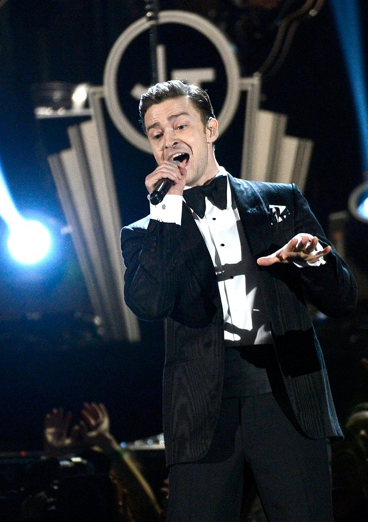 Justin Timberlake performed on stage at the 2013 Grammys on Sunday night in LA.