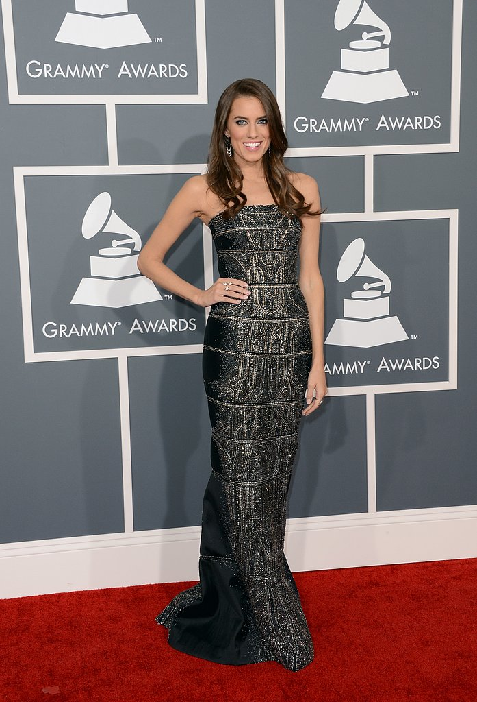 Allison Williams stepped out for the Grammy Awards in LA.