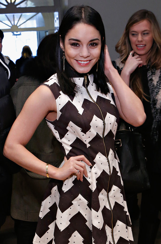 Vanessa Hudgens wore a bold look to the Opening Ceremony show on Saturday.
