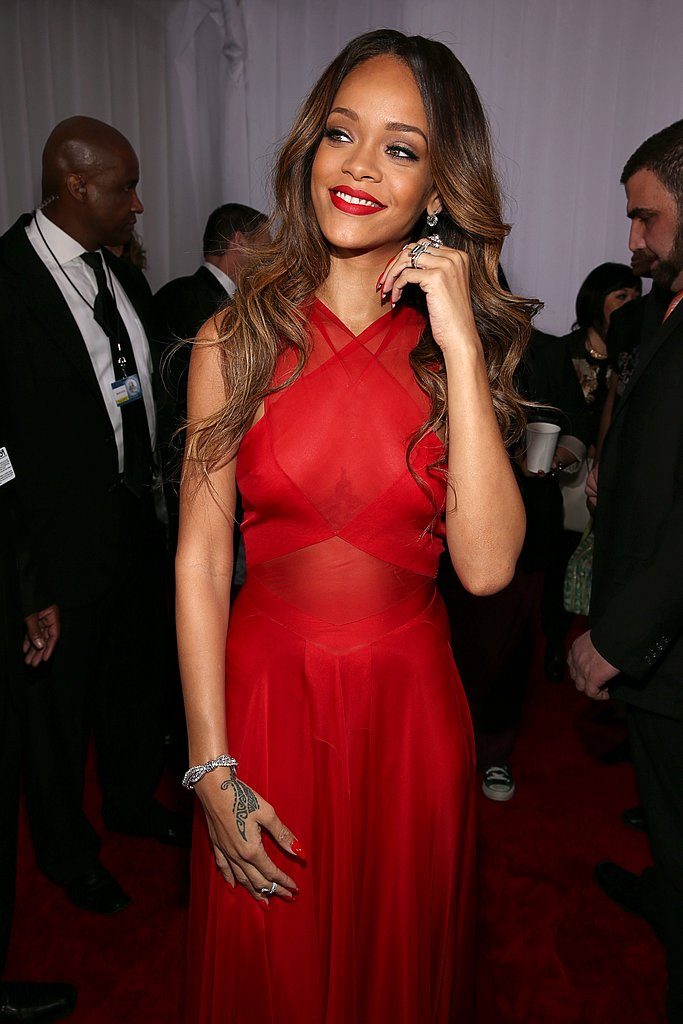 Rihanna Goes Sheer at the 2013 Grammys