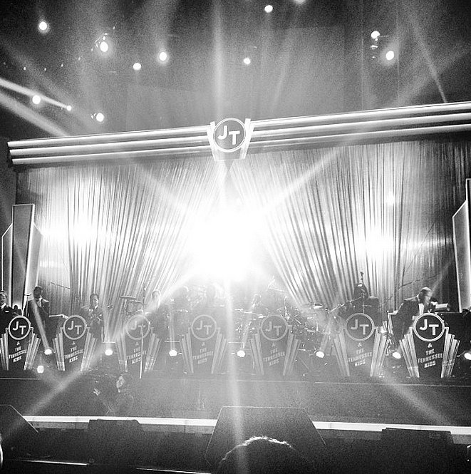 Justin Timberlake showed off his stage before his big performance. Source: Instagram user JustinTimberlake