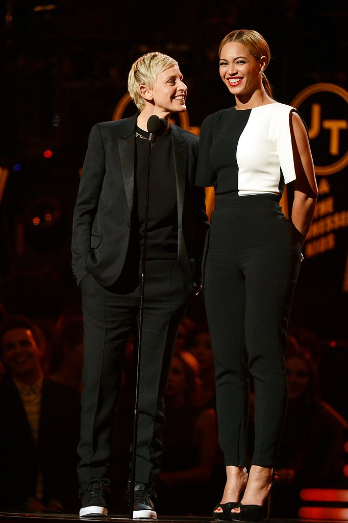 Beyoncé and Ellen DeGeneres were all smiles when they presented together.