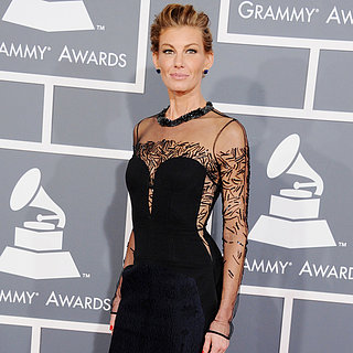 Faith Hill in sheer J.Mendel at the 2013 Grammys