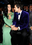 Katy Perry and John Mayer held hands in the audience.