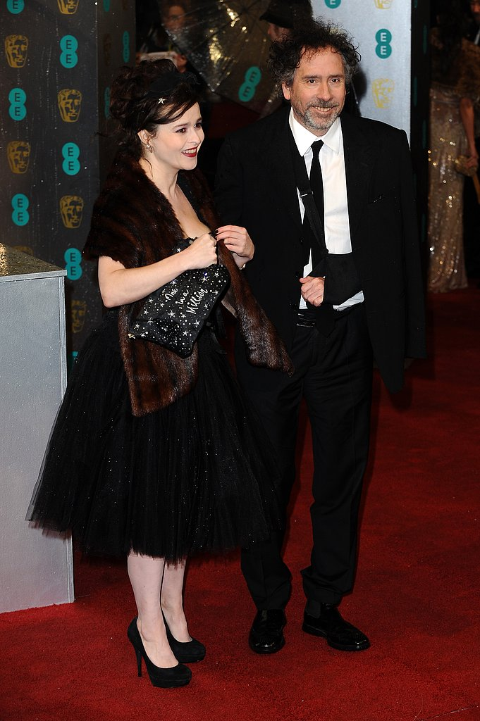 Tim Burton and Helena Bonham Carter arrived on the BAFTA red carpet.