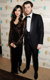 Gemma Chan and Jack Whitehall arrived at the BAFTA Awards.