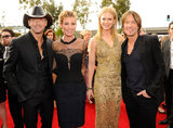 Tim McGraw, Faith Hill, Nicole Kidman, and Keith Urban made it a double-date night!