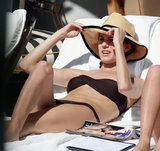 Allison Williams relaxed in a black bikini while in Miami in February.