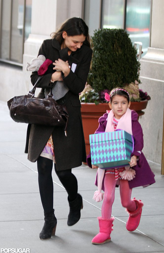 Katie Holmes and Suri Cruise left their NYC home together.