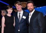 Anne Hathaway, Tom Hooper and Hugh Jackman posed for pictures inside the special Oscars luncheon.
