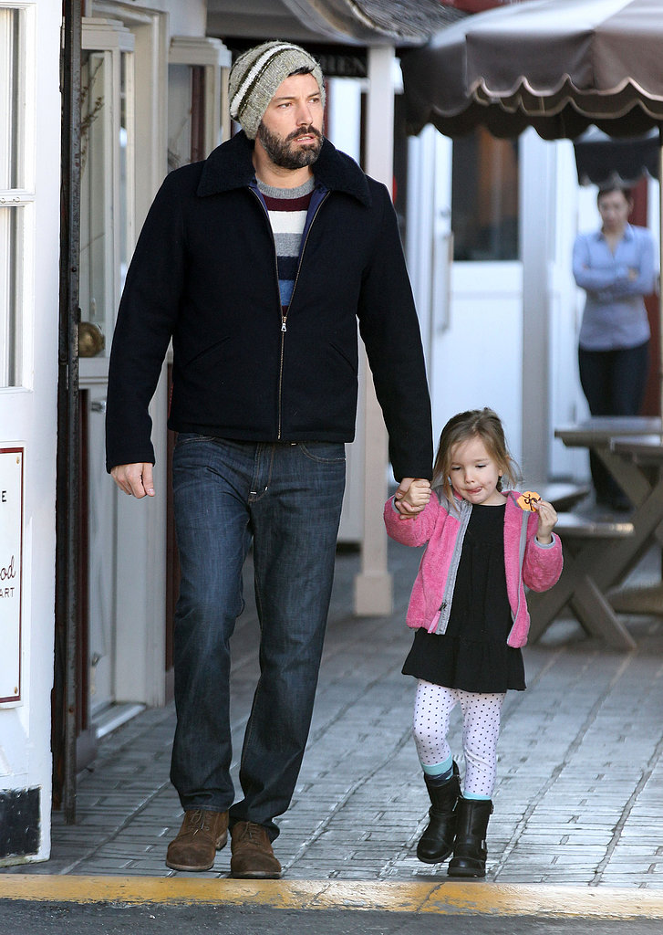 Ben Affleck and Seraphina Affleck left Brentwood Country Market.