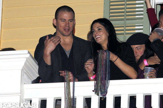Channing Tatum partied with Ashley Greene at his New Orleans bar, Saints & Sinners, during Super Bowl weekend.