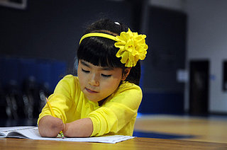 First-grader Born Without Hands Wins Penmanship Award