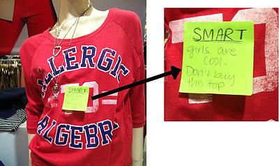 Forever 21 Pulls 'Allergic to Algebra' Girls' Tees (PHOTO)