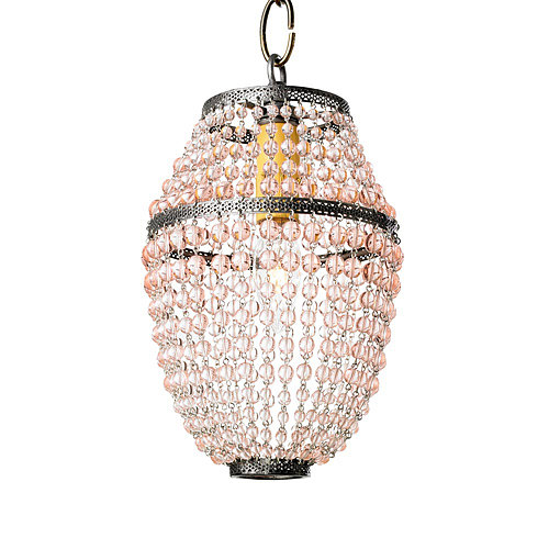For a more permanent version of Mardi Gras beads, hang this beaded mini pendant ($386).