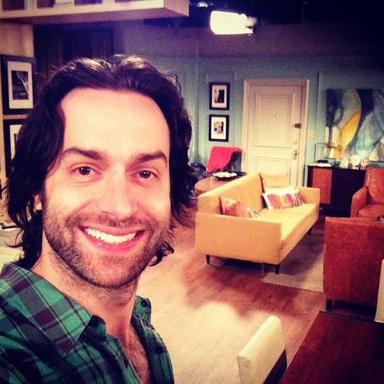 Chris D'Elia took a quick self-portrait on the set of Whitney. Source: Instagram user chrisdelia