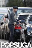 David Beckham ran errands around London.