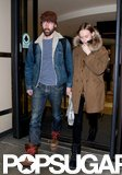 Kate Bosworth and Michael Polish arrived at LAX holding hands.