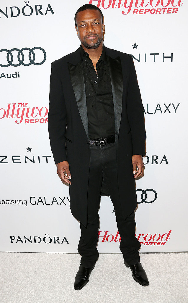 Chris Tucker wore an all black ensemble.