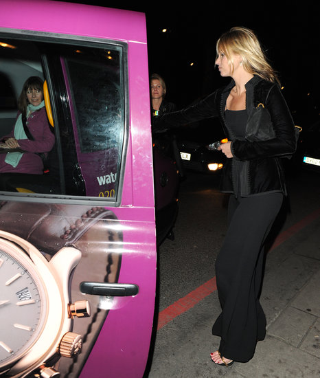 Kate Moss walked to a waiting taxi.