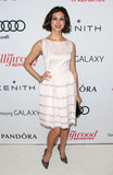 Morena Baccarin arrived at the event in a white dress.