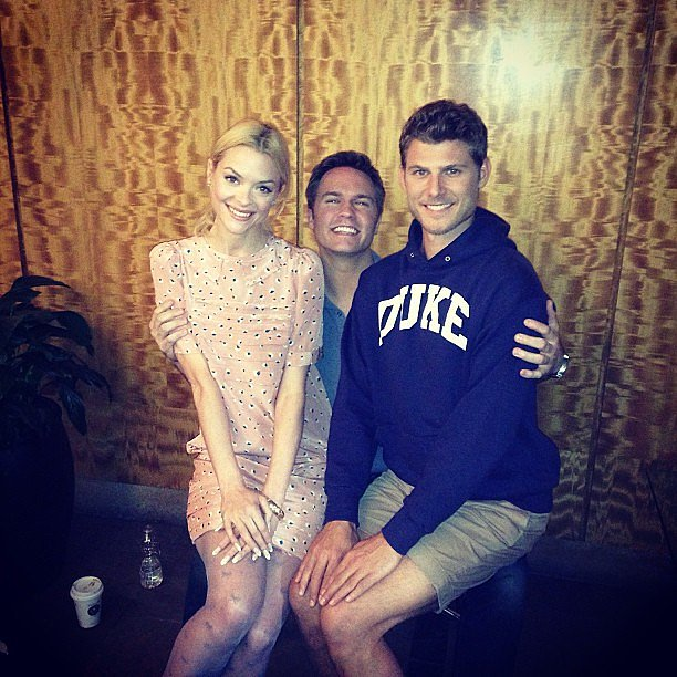 Jaime King, Scott Porter, and Travis Van Winkle perfected their postures on the set of Hart of Dixie. Source: Instagram user jaime_king