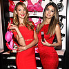 Candice Swanepoel and Lily Aldridge at Valentine's Day Event