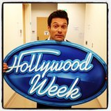 Ryan Seacrest heralded the beginning of American Idol's Hollywood Week. Source: Twitter user RyanSeacrest