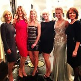 Clad in an Alberta Ferretti gown, Julianne Hough posed with her family ahead of the Safe Haven premiere. Source: Instagram user juleshough