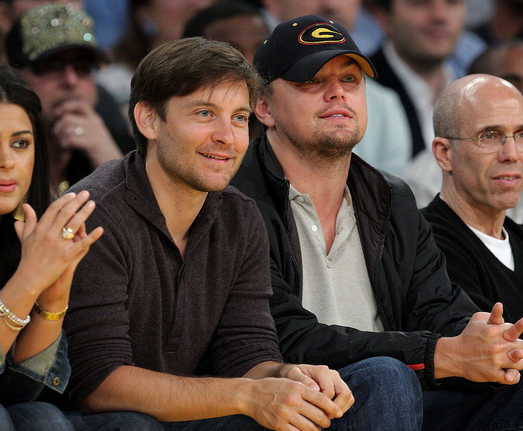 """Leonardo DiCaprio and Tobey Maguire have been catching Lakers games together for years, and at the premiere of his film The Details, Tobey talked about working with Leonardo on The Great Gatsby. """"The fact that I was forced to see one of my best friends everyday was fantastic."""""""