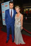 Julianne Hough and Josh Duhamel posed on the red carpet at the LA premiere of Safe Haven.