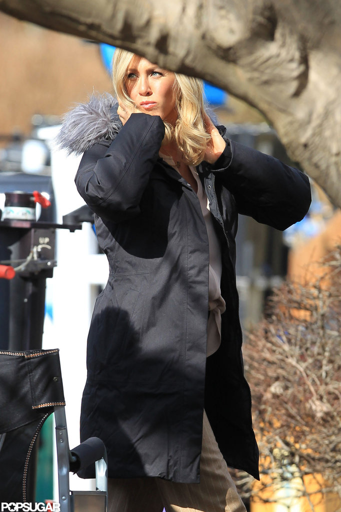 Jennifer Aniston Is Back to Blonde For Filming