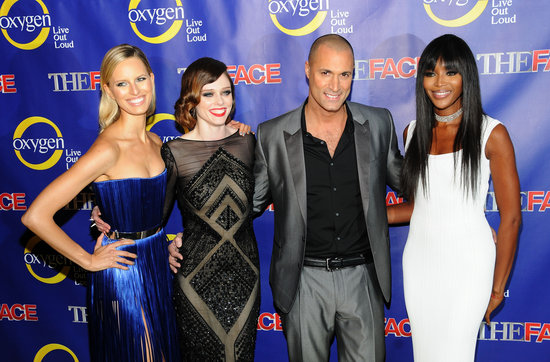 The Face's stars, Karolina Kurkova, Coco Rocha, Nigel Barker, and Naomi Campbell, posed for photos.