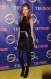 Behati Prinsloo joined the cast to celebrate in a crop top and a black leather skirt — channeling a little '90s-era nostalgia.