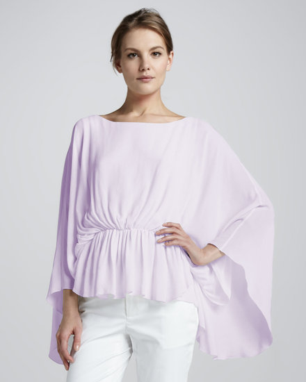 "Nothing says ""sweet"" like a fluttery top, and this Alice + Olivia Judith Butterfly-Sleeve Top ($275) is a great example."