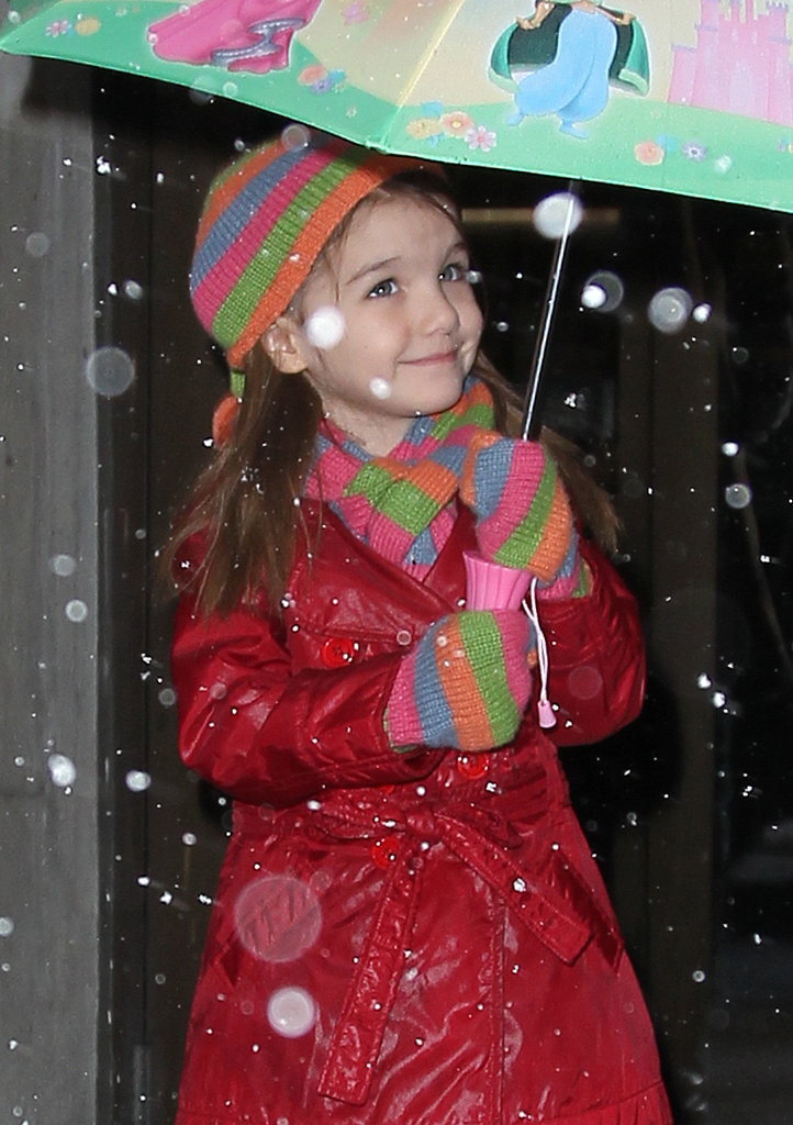 Suri Cruise enjoyed a walk in the flurries during a trip to NYC back in February 2010.