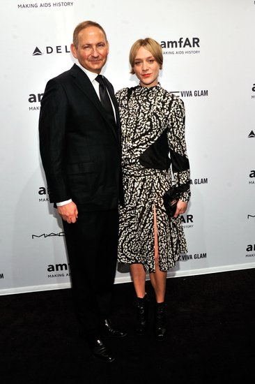 John Demsey and Chloë Sevigny smiled at the amfAR gala in NYC.