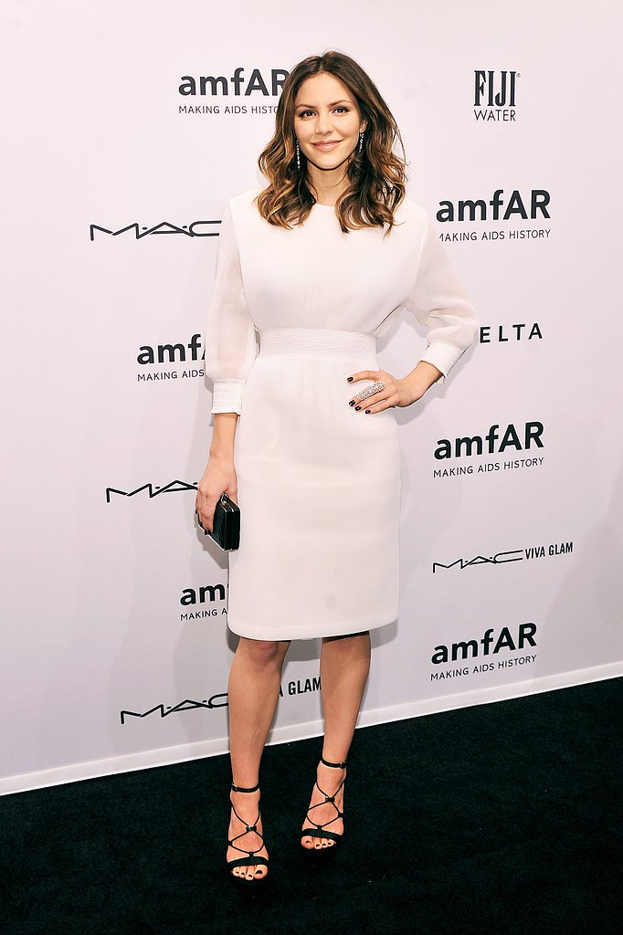 Katharine McPhee wore a white dress to the event.