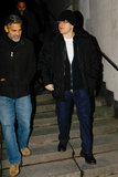 Matt Damon and George Clooney walked together in Berlin.