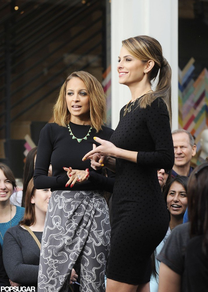 Nicole Richie talked to TV host Maria Menounos on Thursday at The Grove in LA.