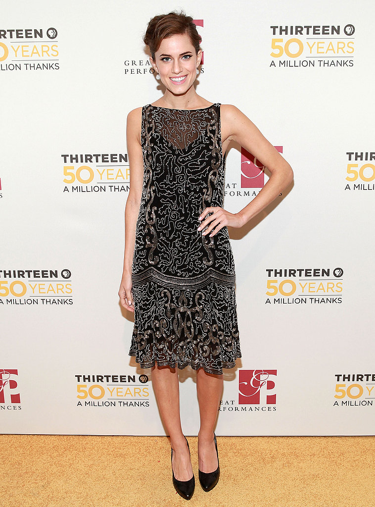 At the 50th Anniversary Gala Salute in 2012, Allison channeled the 1920s with a twist, styling her allover embellished Ralph Lauren dress with diamond ball earrings and a retro updo.