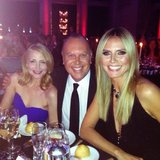 Michael Kors shared a photo of himself at the amfAR Gala with Patricia Clarkson and Heidi Klum. Source: Instagram user michaelkors