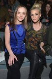 Christina Ricci and Ashlee Simpson buddied up at the front row of Richard Chai Love during NYFW. Christina went bold in a brilliant blue top, while Ashlee dazzled in a sequined blouse with black leather pants and a Stark clutch.